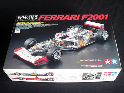 タミヤ模型グランプリコレクションNo.52(ITEM 20054) 1/20サイズのフルビューフェラーリF2001です。