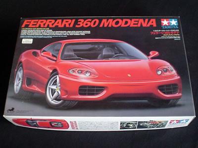 タミヤ模型スポーツカーシリーズNo.228(ITEM 24228) 1/24サイズのフェラーリ360モデナ。