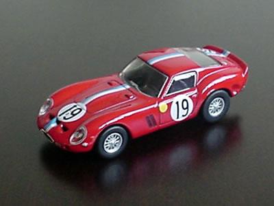フェラーリ250GTOゼッケン19 1962年のル・マン出場者。サークルK・サンクスの第3弾ミニカー。