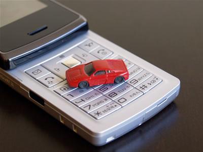 1/160サイズの小さなフェラーリ348です。携帯電話と比較してみて!ヴィーキングのNゲージ用のアクセサリらしい。