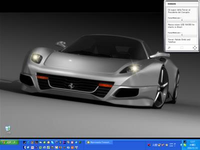 海外のサイトで見つけた「Ferrari F250 Concept Car(フェラーリF250コンセプト)」の壁紙をPCに設定してみました。