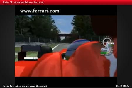 フェラーリ公式サイトのモンツァシミュレーション