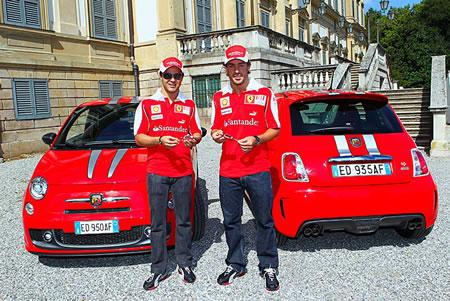 アロンソとマッサはアバルトから695トリビュートフェラーリをもらったそうですよ!