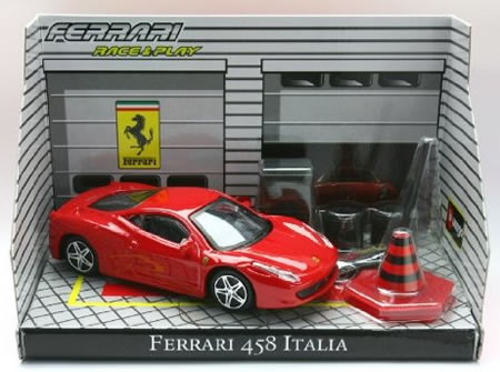 1/43ダイキャストミニカー「フェラーリ レース&プレイシリーズ 」 フェラーリ 458 イタリア