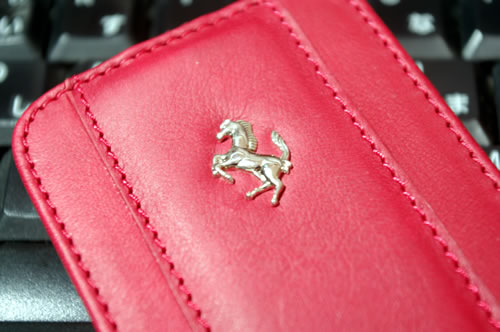 Ferrari GT Leather Modena Flip Case for iPhone 4