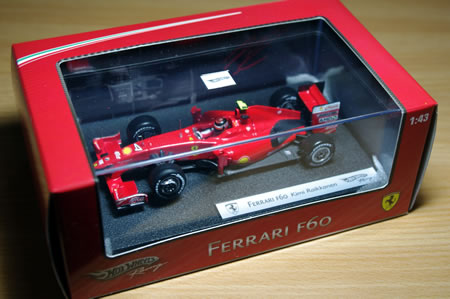 ホットウィールのフェラーリF60(1/43)のミニカーを購入。