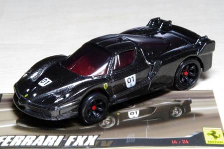 カーナンバー1の漆黒のFXX。しかもストライプなし。