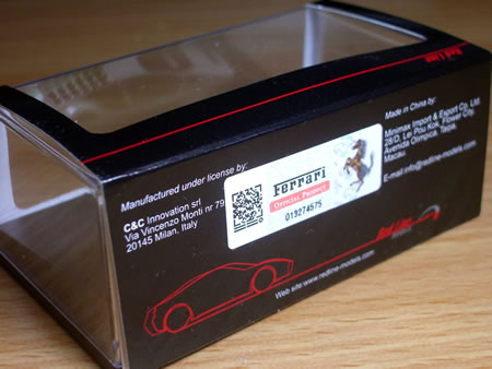レッドラインのフェラーリモデューロ(1/87)のミニカー入手しました。