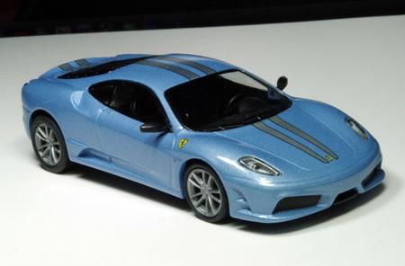 サークルK・サンクス限定京商フェラーリミニカー「フェラーリミニカーコレクション第6弾(1/64)」からフェラーリ430スクーデリア(ライトブルー)です。